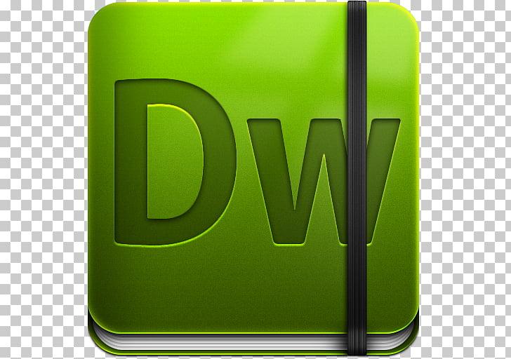 Text brand green, Dreamweaver, green DW logo PNG clipart.