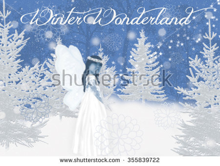 Dreamy Winter Wonderland Illustration Of Small Girl Fairy In A.