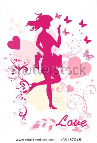 Dreamy Girl Vector Silhouette Stock Vector 109187048.