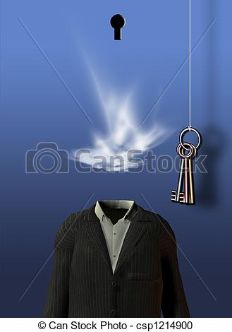 Stock Illustration of Empty Suit Dream Scene csp1214900.