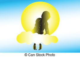 Stock Illustration of Dream Scene on Cloud csp2832700.