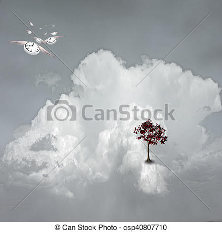 Stock Photography of Dream Scene on Cloud csp40807710.