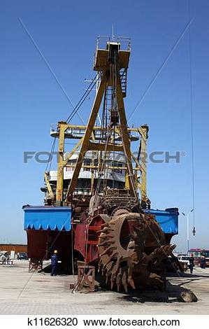 Stock Illustrations of cutter suction dredger k11626320.