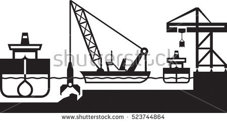 Dredger Stock Photos, Royalty.