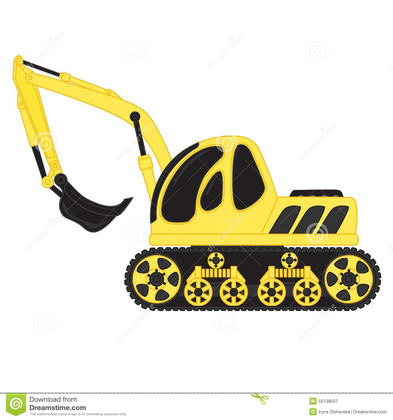 Dredge Toy Stock Vector.