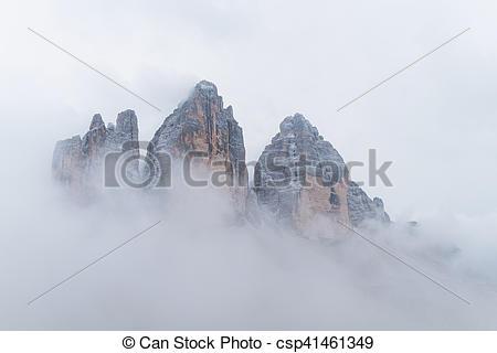 Stock Photo of Drei Zinnen Lavaredo, Dolomites Alps mountains.