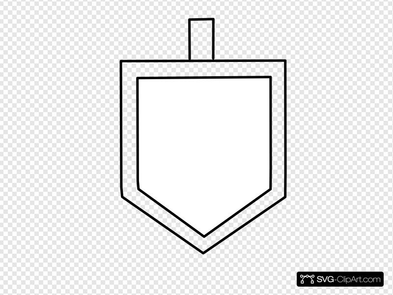 White Dreidel Shape Clip art, Icon and SVG.