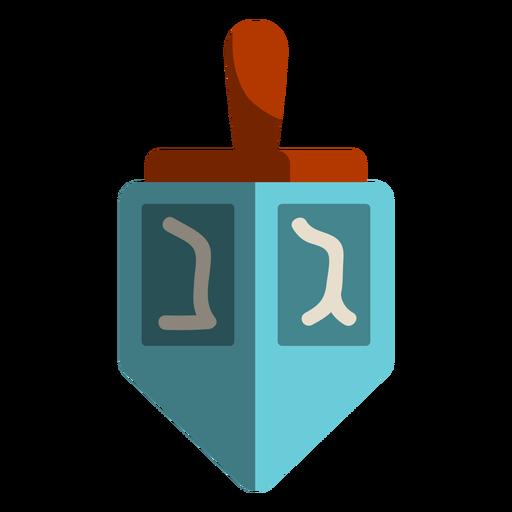Blue dreidel icon.