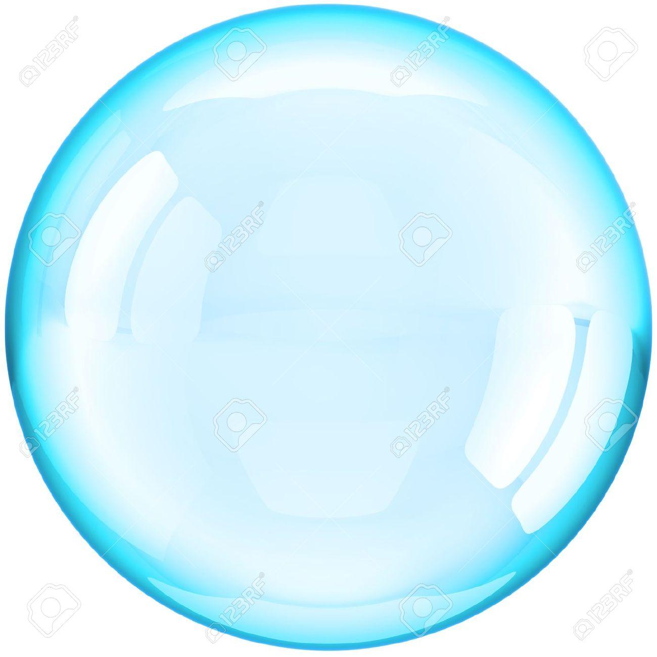 SOAP Bubble Ball Durchsichtig Farbig Cyan Blau. Dies Ist Eine.