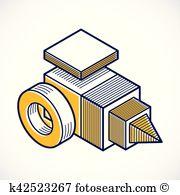 Dreidimensionale form Clipart Illustrationen. 12.037.