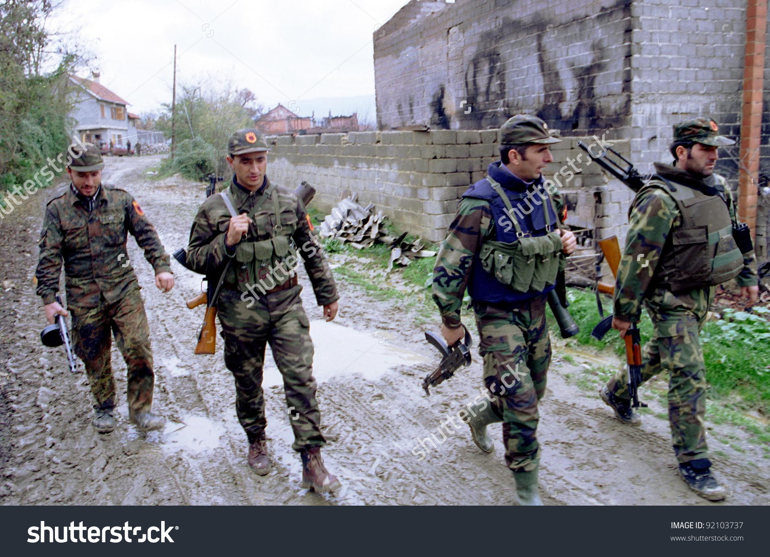 Retmilje Kosovo 07 November 1998 Soldiers Stock Photo 92103737.