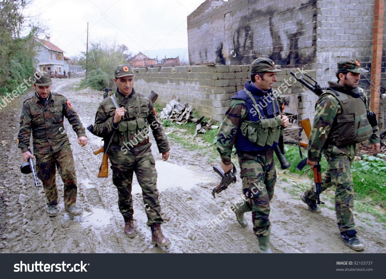 Retmilje Kosovo 07 November 1998 Soldiers Stock Photo 92103737.