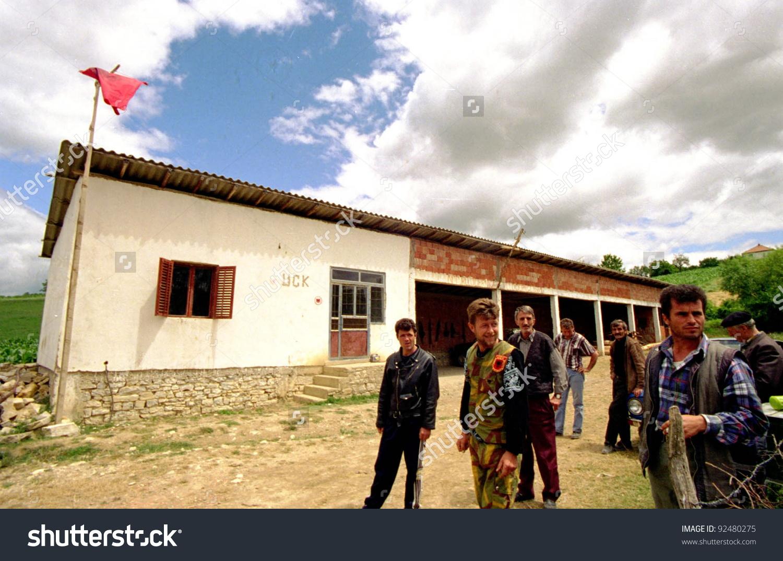 Drenica Kosovo July 7 Guerrilla Fighters Stock Photo 92480275.