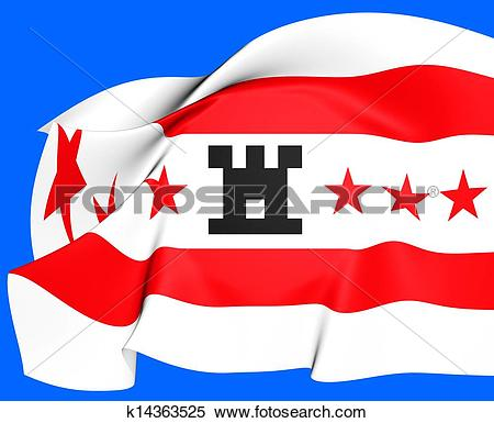 Stock Illustration of Flag of Drenthe, Netherlands. k14363525.