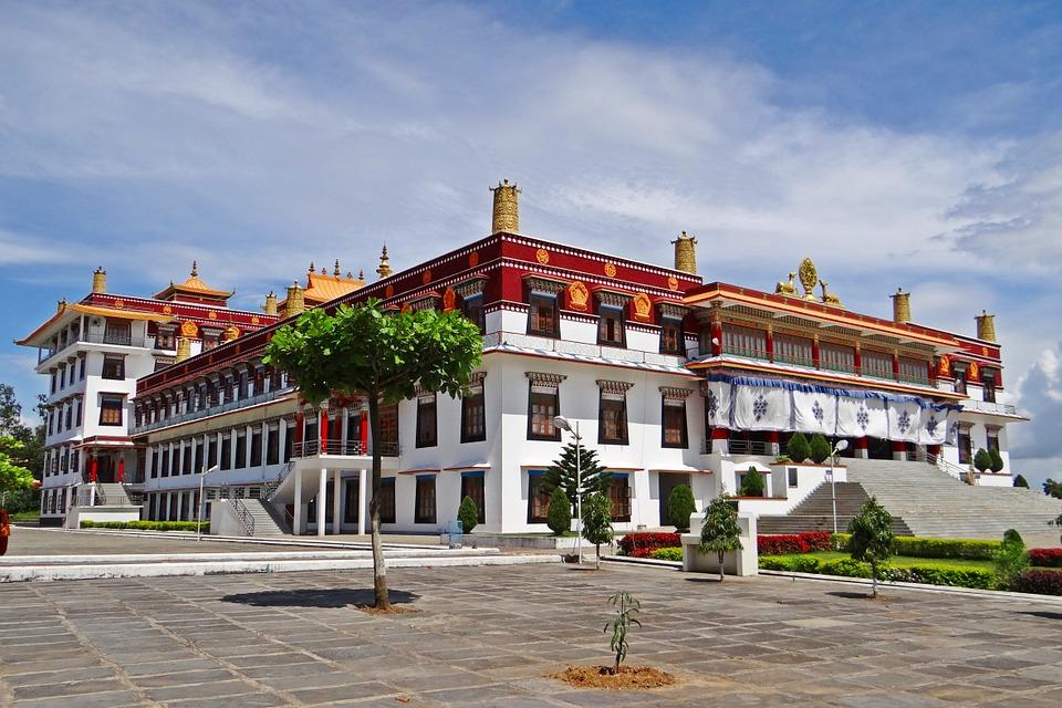 Free photo: Drepung Gomang Monastery, Mundgod.