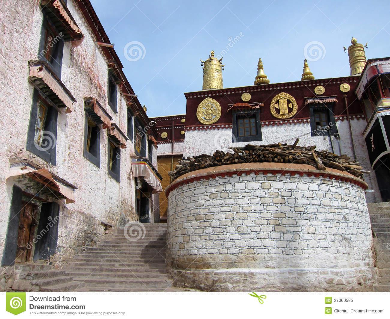 Drepung Monastery In Tibet Royalty Free Stock Photo.