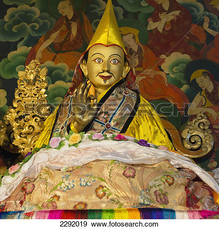 Stock Photograph of Buddhist statue at drepung monastery;Lhasa.