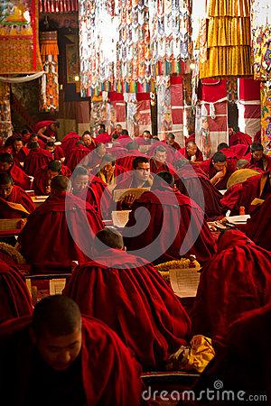 Drepung Monastery Studying Monks Lhasa Tibet Editorial Stock Photo.