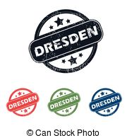 Vector Clip Art of Dresden stamp rubber grunge.