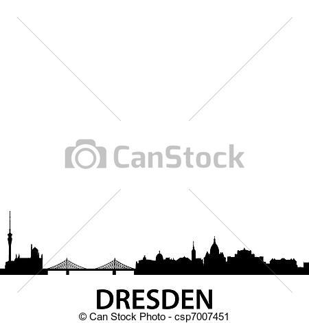 Vector Clip Art of Skyline Dresden.