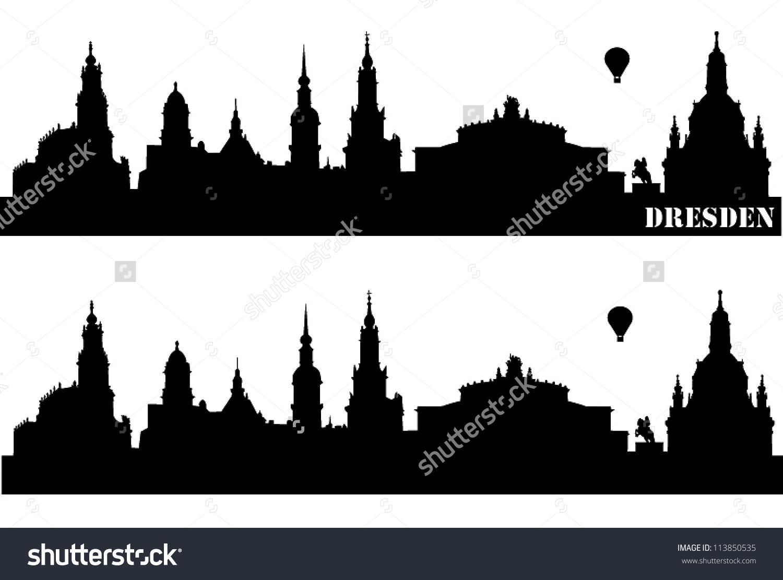 Skyline Dresden Stock Vector 113850535.