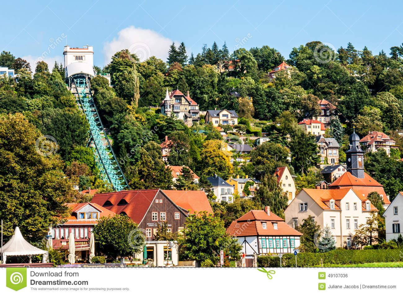 Funicular In Loschwitz Stock Photo.
