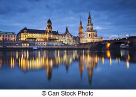 Picture of Buildings in the district of Dresden Loschwitz (Germany.