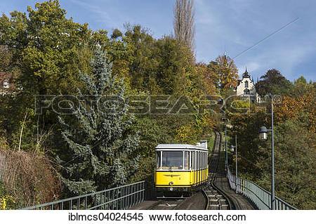 "Stock Image of ""Dresden Funicular Railway, Loschwitz, Dresden."
