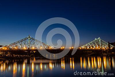 Bridge Blue Wonder Dresden Stock Photo.