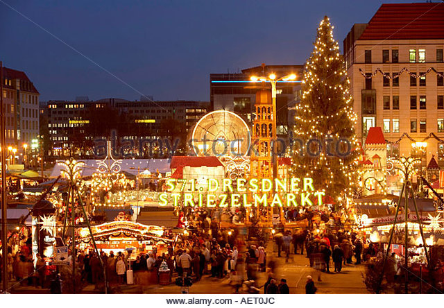 Christmas Decoration Dresden Christmas Market Stock Photos.