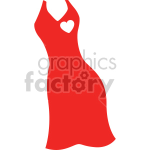 red dress svg cut file clipart. Royalty.