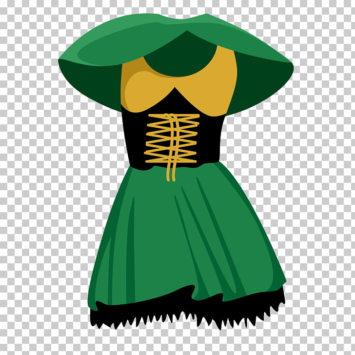 Clothing Computer file, Green princess dress PNG clipart.