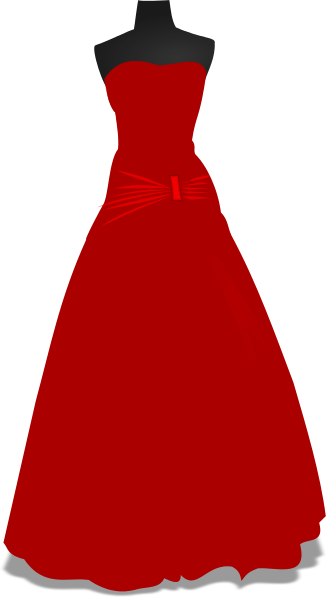 formal dress gown.