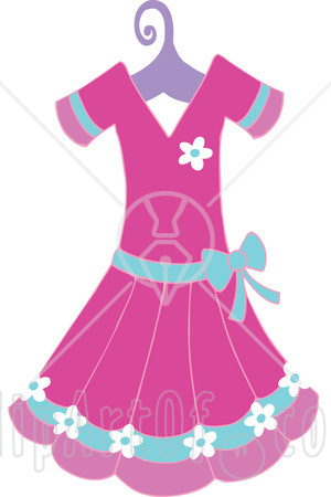 girl dressed clipart #6