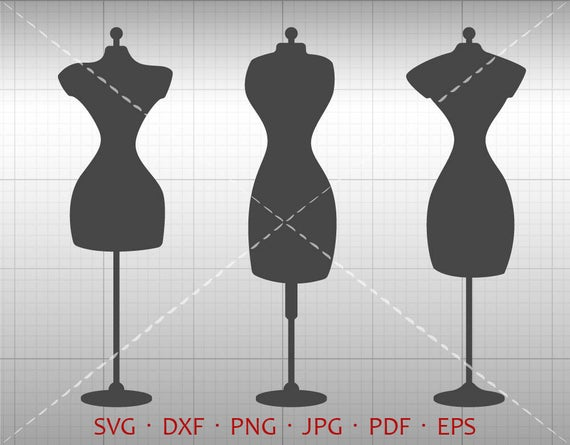 Sewing Dress Form SVG, Dress Form Clipart DXF Vector Silhouette Cricut Cut  File Commercial Use.