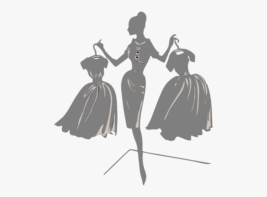 Gown Clipart Dress Form.
