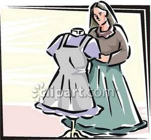 Creating a Dress Royalty Free Clipart Picture.