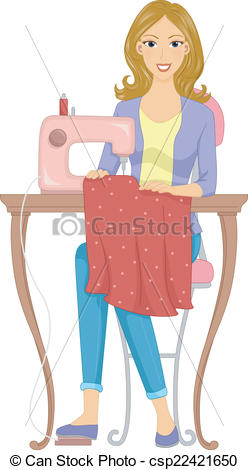 Clipart Vector of Dressmaker.