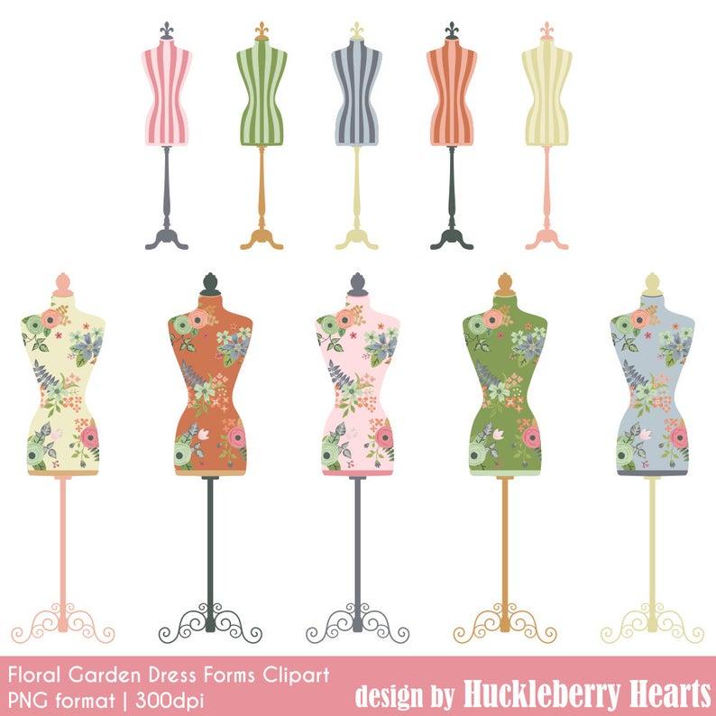 Mannequin Clipart, Dress Forms, Dress Forms, Dressmaker, Printable,  Commercial Use.