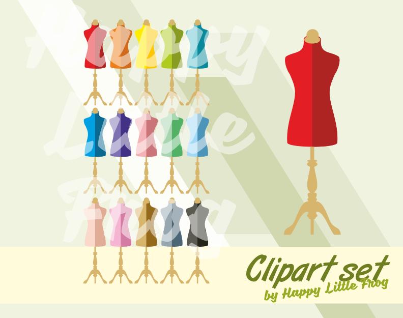 Vintage mannequins clipart, dress forms clipart, sewing clipart, clothes  design cliparts, mannequin print, dress form.