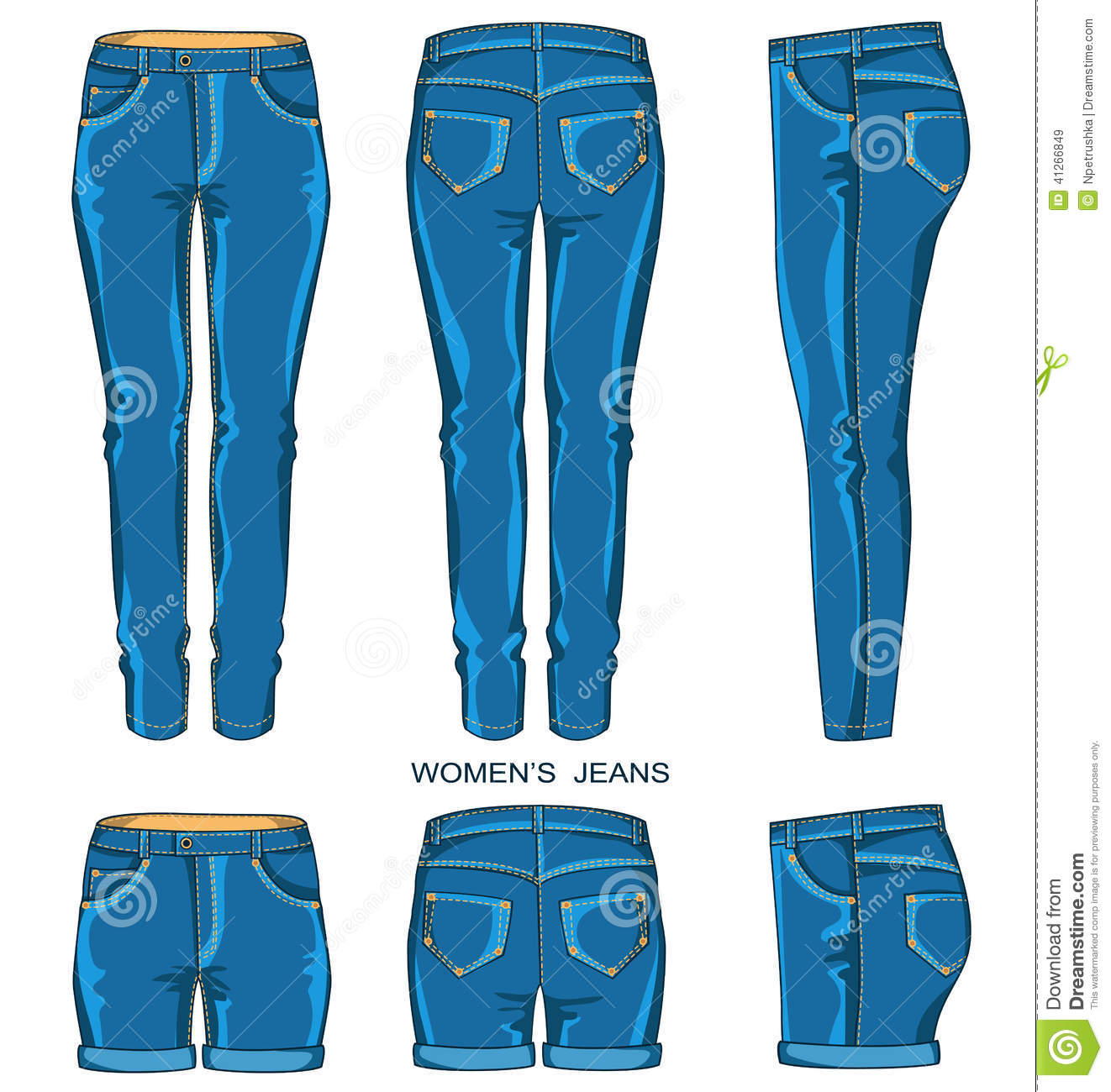 Womens Dress Pants Clipart.