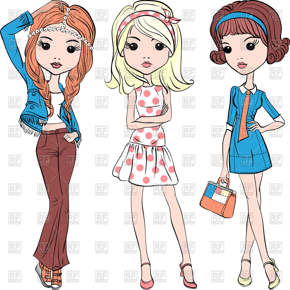 Dress People Clipart.