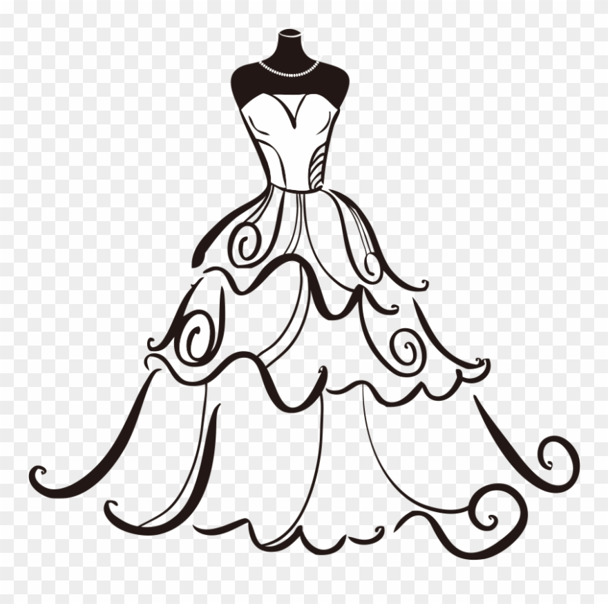 Banner Free Dress Bride Clip Art.