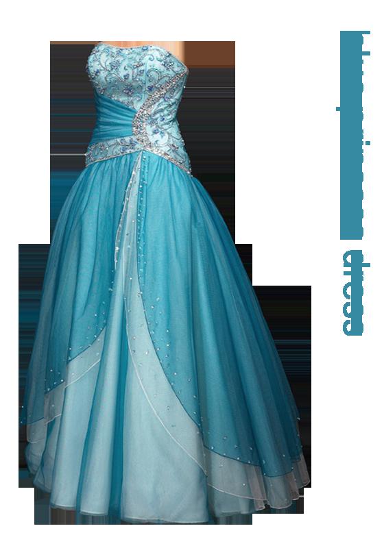 Blue Dress PNG Image.