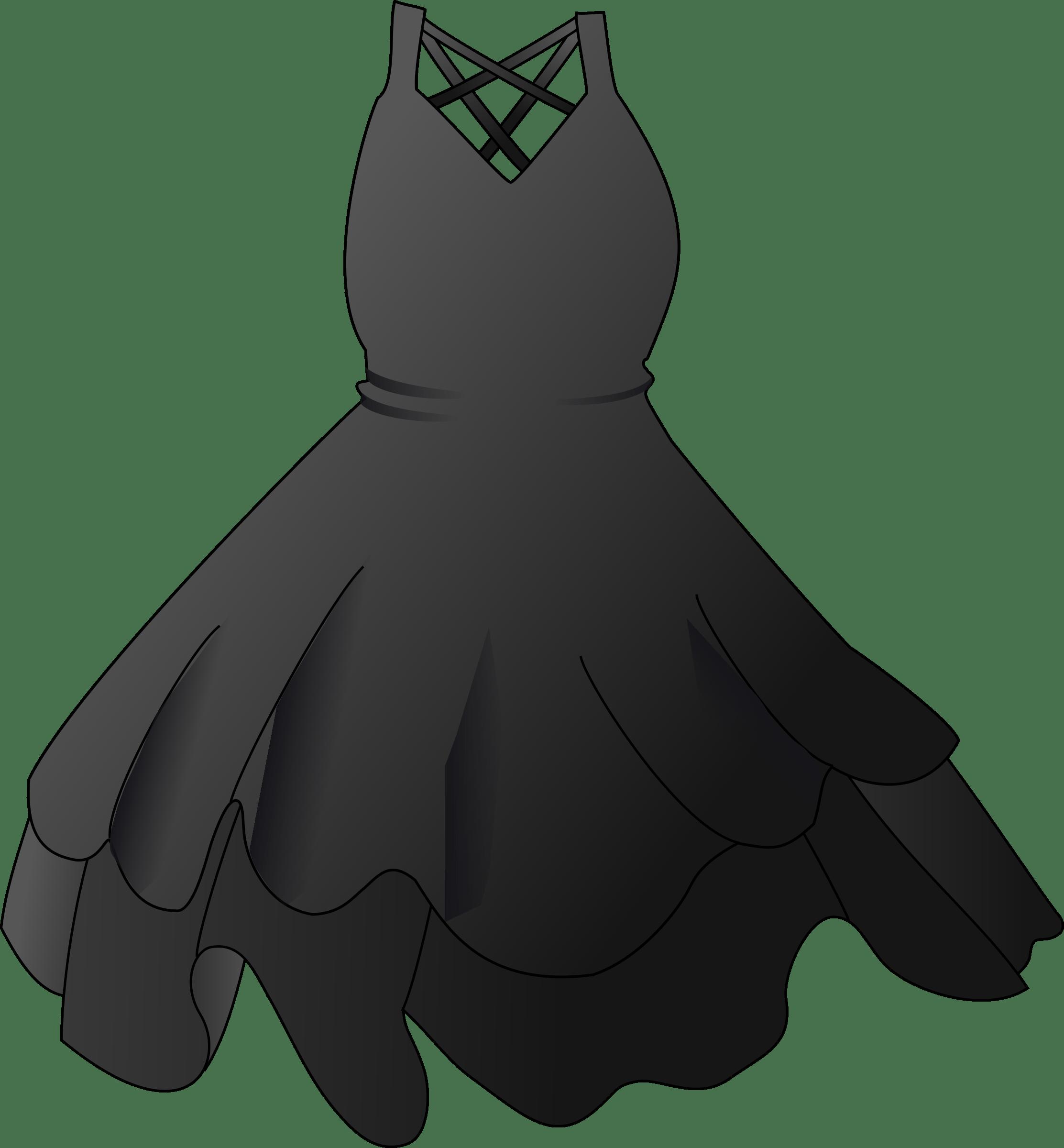 Black Party Dress transparent PNG.
