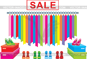 Clothing sale clip art.