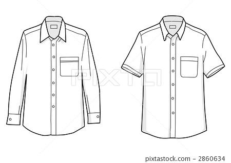 business shirt, dress shirt, clip art.
