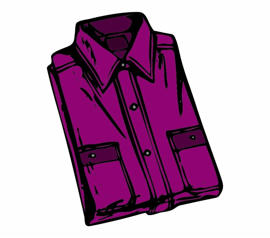 Shirt Folded Vector Clip Art.