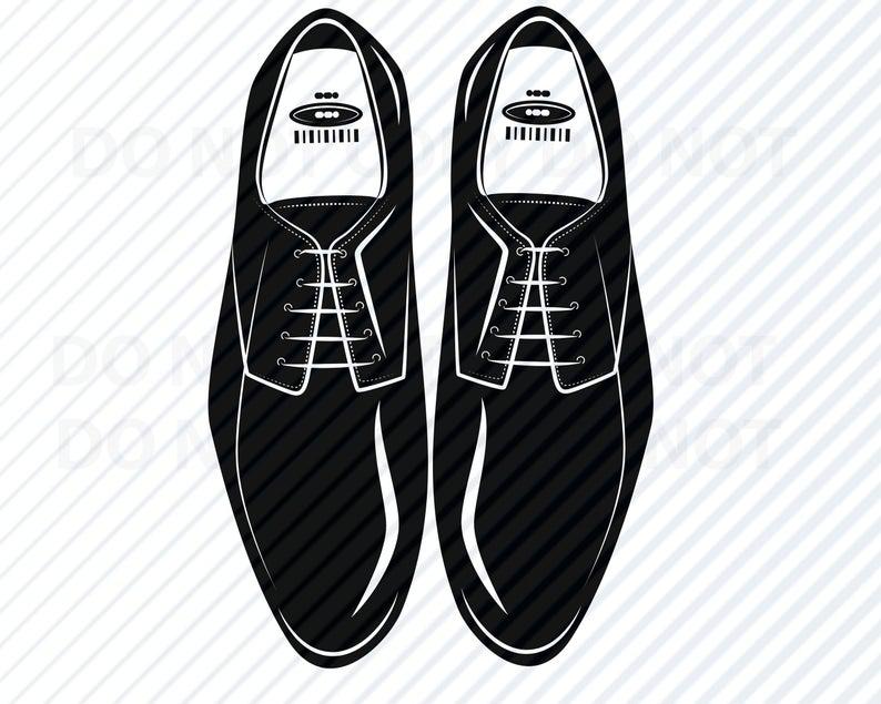 Mens Shoes clipart SVG Silhouette.