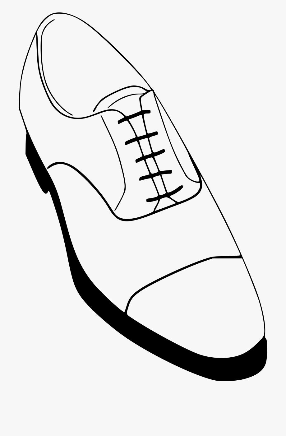 Men Shoes Clipart Blank.